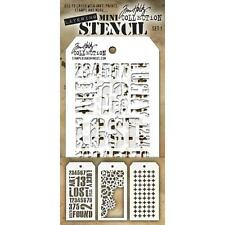 Tim Holtz Mini Layering Stencil ~ SET 1 ~ THMST001 ~ Stampers Anonymous