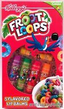KELLOGGS FRUIT LOOPS by Lotta Luv 5 pack of fun fruity flavored LIP BALMS     J