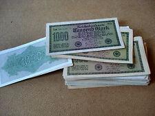 1000 Mark - Tausend Mark Reichsbanknoten,  Sept. 1922 - Reichsmark konvolut