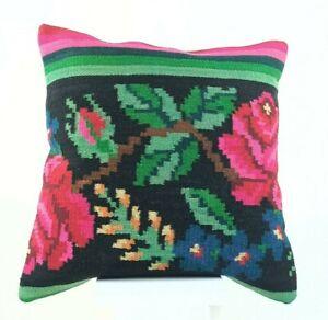 Kilim Pillow Cover 20x20 Home Decorative Handmade Tribal Sofa Couch Cushion 2137