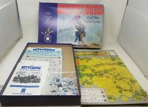 GETTYSBURG Civil War Battle Board Game, Avalon Hill Complete 1988