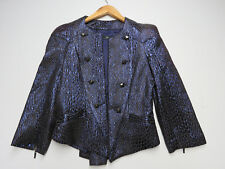 F-157 CUE STUD BUTTONS AUSSIE MADE JACKET BLUE/BLACK SPARKLE SIZE 8 NEW