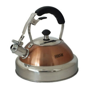 VOCHE® COPPER 3.5L STAINLESS STEEL WHISTLING KETTLE FOR GAS & ELECTRIC HOBS
