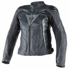 New Dainese Avro D1 Leather Jacket Women's EU 44 Black/Anthracite #253372568544