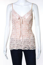 Ann Ferriday Pink Lace Sequin Detail Spaghetti Strap Camisole Top Size One Size