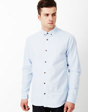 Only & Sons Men's Asher Button Oxford Shirt Large BNWT RRP £30 Cashmere Blue