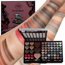 Make Up Gift 64 Colours Eyeshadow Lipgloss Face Palette Set Professional Box Kit