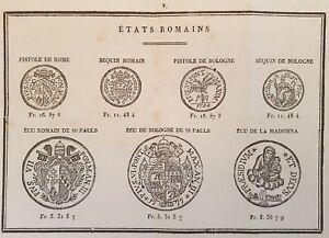 NUMISMATICA MONETE STATI ROMANI ROMA BOLOGNA ROME BOLOGNE 1829 COINS