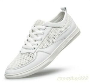 Mens Mesh Breathable Hollow Out Lace Up Flats Summer Soft Shoes Casual Pumps