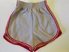 "NOS '70's Winneshiek Short Gym Running Shorts Gray Red Size Small 20""-23"" USA"