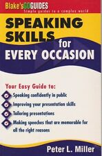 SPEAKING SKILLS FOR EVERY OCCASION - PETER MILLER SIGNED - SPEECHES & EVERYTHING