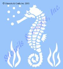 """3 1/2"""" SEAHORSE STENCIL STENCILS TEMPLATE NAUTICAL BEACH SEA MARINE OCEAN NEW"""