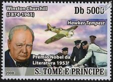 WWII RAF Hawker TEMPEST Mk.1 Aircraft & Winston Churchill (D-Day) Stamp