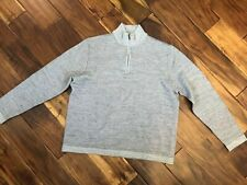 Toscano Sweater Brown Size Large Mens Pull Over Zipper L