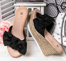 Womens Ladies Sliders Ladies Platform Wedge Summer Sandals Slides Mules   size 7