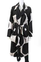 Bitte Kai Rand Womens Open Front Polka Dot Midi Jacket Black Ivory Size Medium