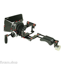 Filmcity Shoulder Steady Rig Kit Follow Focus Hood for GH4 GH3 A7 A7r A7s Camera
