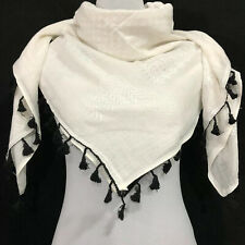 Hirbawi Scarf Arab Shemagh Original Keffiyeh All White Brand Cotton Hatta Unisex