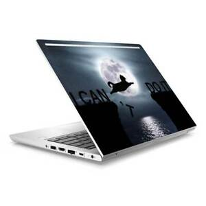 Cat Moon Skin Sticker Wrap to Cover HP Probook 430 G5 G6 Top Lid Australian Made