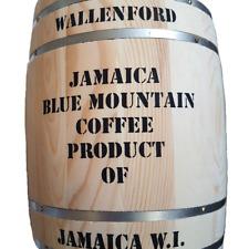 100 % Jamaican Blue Mountain Coffee, Wallenford Dark Roast Whole Beans, 7 -1 lbs