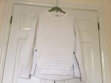 Lululemon White Fleece Sweatshirt Top Size 10/12