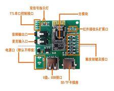 Bluetooth Receiver U-disk TF/SD MP3 Audio Voice Sound Module Serial / IR Control