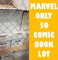 MARVEL ONLY HUGE COMIC BOOK LOT 50 MARVEL X-MEN SPIDER-MAN NO DOUBLES