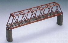 Tomix 3031 Truss Bridge Set w/ 2 Brick Piers (Red) (N scale)