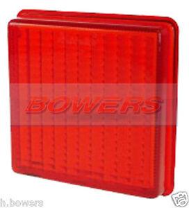 RED REAR FOG LIGHT LENS FOR IFOR WILLIAMS HORSE BOX TRAILER HB510 HB505 HB401