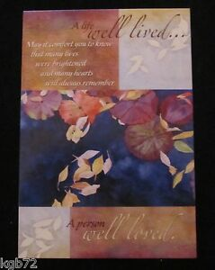 Leanin Tree Sympathy Funeral Friendship Nature Greeting Card Multi Color R190