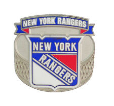 New York Rangers NHL Logo Banner Puck Pin