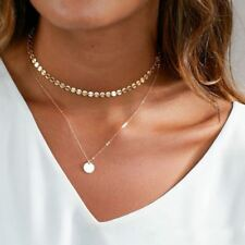 Multilayer Coin Necklace choker