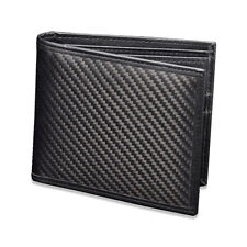 Carbon Fiber Wallet & Leather Wallet for Men, with Myki flap