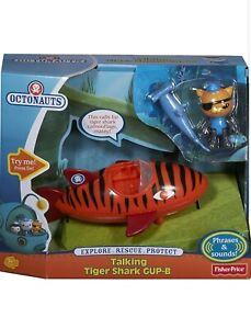 Octonauts Gup B Kwazii Figure Talking Tiger Shark Toy Gift  Fisher Price NEW!