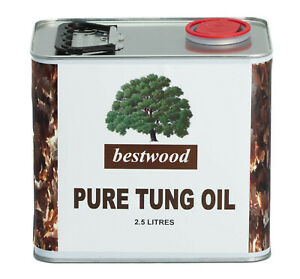 Pure Natural Tung Oil, Bestwood, 2.5 Litres, furniture, inside, outside etc