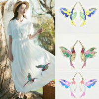 2PCS 3D Sequin Embroidery Birds Patches Appliques Sew On Clothing Dress DIY .,