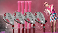 "Women's iDrive Golf Clubs All Ladies Pink Hybrid (4-7) Set Lady ""L"" Flex Clubs"