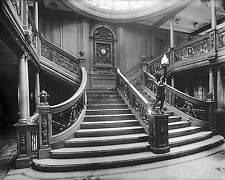 RMS TITANIC 8x10 Photograph White Star Line Ocean Liner in 1912 Grand Staircase
