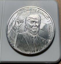 """""""TRUMP 2020"""" 1 Oz .9999 Fine Silver Coin - Misaligned Reverse Die ERROR Coin"""