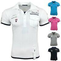 Herren T-Shirt Shirt Shirts Top Qualität Polo Party Clubwear WOW S M L XL NEU
