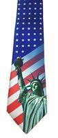 Men's Patriotic Tie - American Flag Tie - 4th of July Tie -  26042