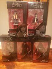 Star Wars Black Series 6 Inch Lot of 5  Hux, Tie fighter Pilot, Jannah Qi'ra Val