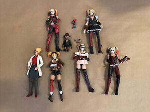 DC Batman Arkham Asylum/City/Origins/Knight Figure Lot Of 5 Harley Quinn Figures