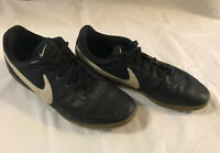 Nike Mens Indoor 580452 Soccer Shoes Davinho Size 11 Black White Swoosh