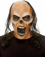 Adult Latex Decaying Zombie Mask + Hair Halloween Fancy Dress Accessory
