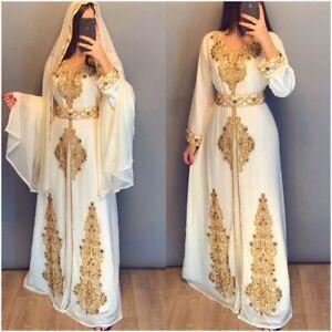 Neu Afrikanische Kaftan Kleid für Party & Hochzeit Marokko Dubai für Damen 201