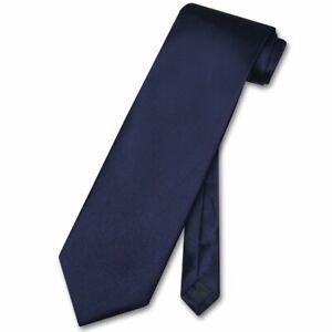 Vesuvio Napoli NeckTie Solid NAVY BLUE Color Mens Neck Tie