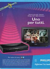 CIAK999-PUBBLICITA'/ADVERTISING-1999- PHILIPS DST 5816 GOLDBOX -DECODER DIGITALE