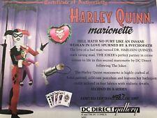HARLEY QUINN MARIONETTE STATUE 0487/1007 DC GALLERY PORCELAIN DOLL BATMAN JOKER