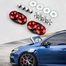 Red Universal Car Bumper Fender Trunk Lids JDM Spike Quick Release Fasteners Kit